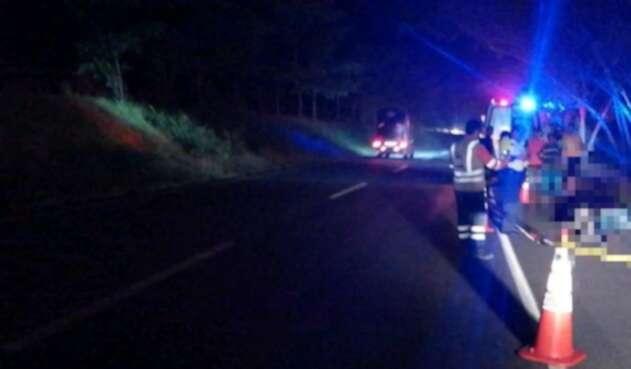 Accidente de tránsito en vía del Tolima