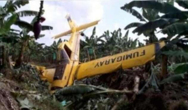 Avioneta accidentada en Apartadó