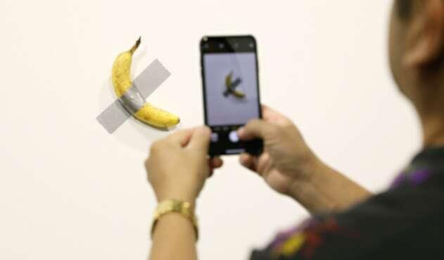 Banana del artista David Datuma