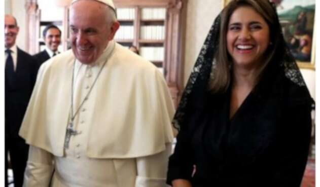 María Juliana Ruiz y papa Francisco