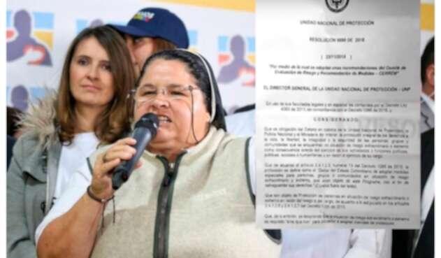 La monja Adriana Torres.
