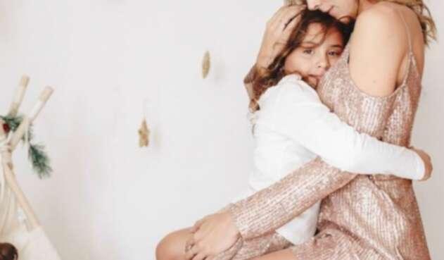 Daniela Ospina y su hija Salomé