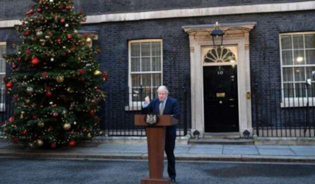 Boris Johnson, primer ministro británico tras proclamar su victoria en las elecciones.