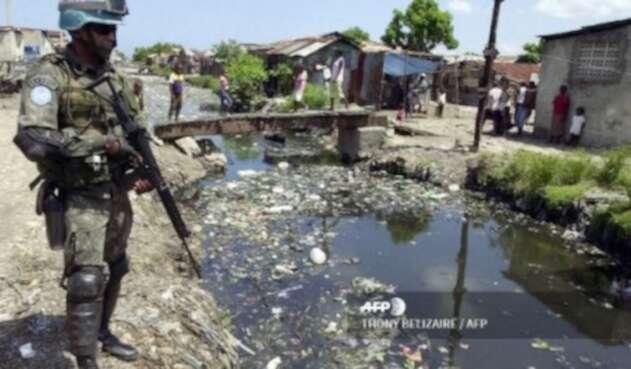 soldados en Haití