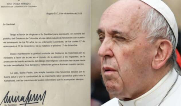 Carta de Iván Duque al papa Francisco