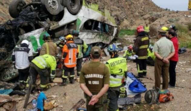 El siniestro ocurrió en la región de Antofagasta, al Norte de Chile.