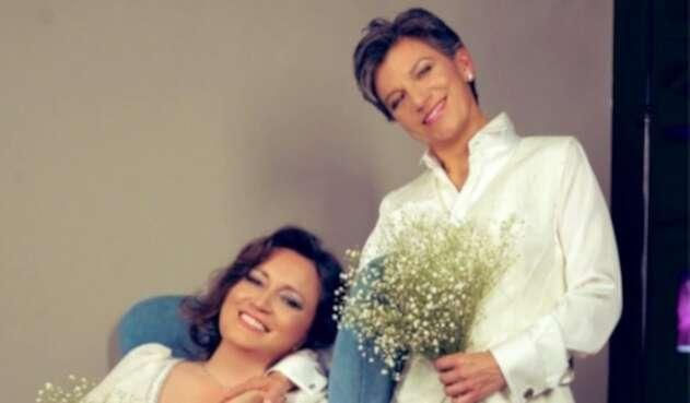 Claudia López y Angélica Lozano se casan