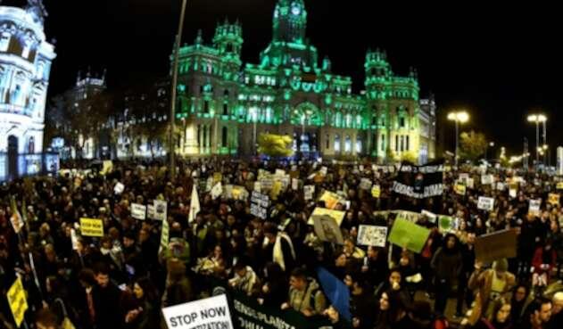 Protestas en Madrid en el marco de la Cumbre del Clima
