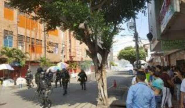 Disturbios en el centro de Cúcuta