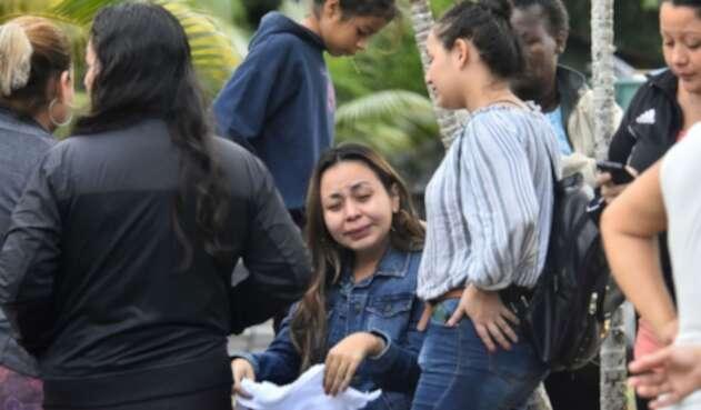 Familiares de presos muertos en Honduras