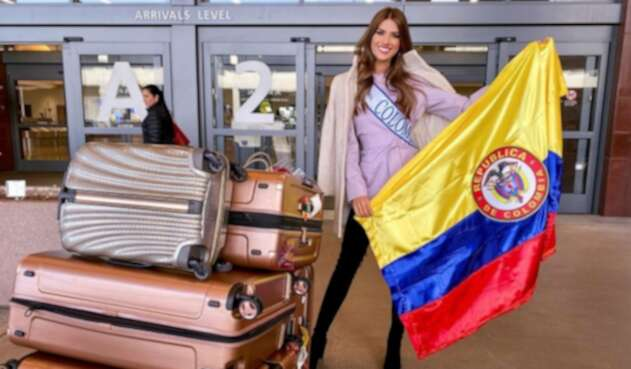Gabriela Tafur llegando a Miss Universo