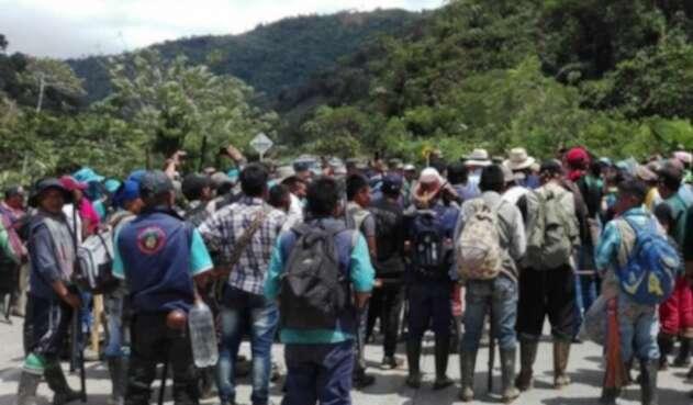 Indígenas desplazados.