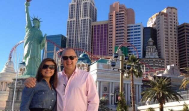 Jota Mario Valencia y su esposa Neth Fuentes
