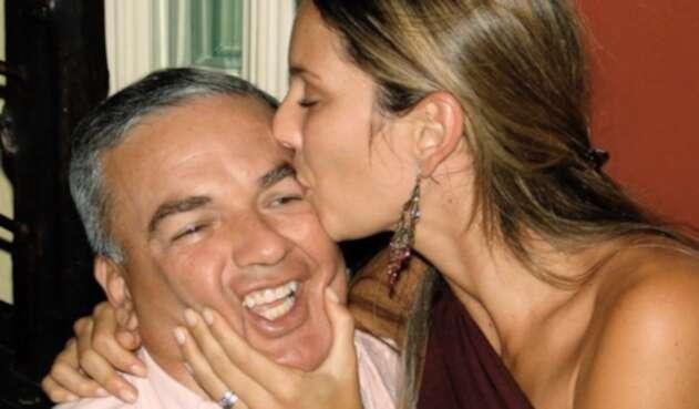 Claudia Bahamón y su padre