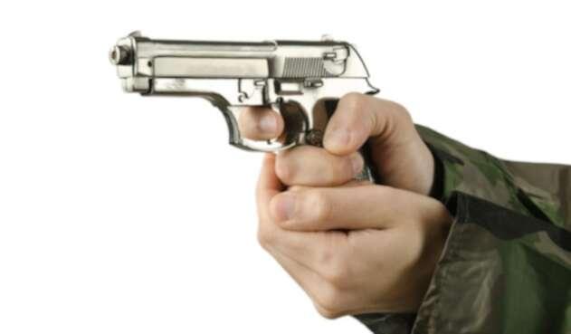 Porte de armas. Imagen de ilustración