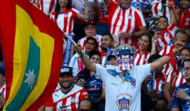 Hinchas del Junior en Barranquilla