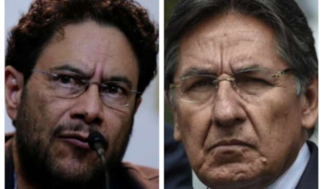 Iván Cepeda y exfiscal Nestor Humberto Martínez