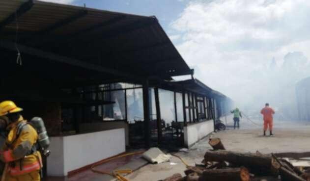 Incendio en edificación de Chía (Cundinamarca)