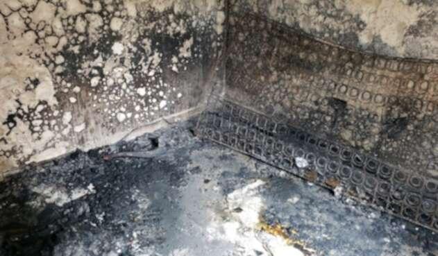Incendio en un apartamento en Medellín.