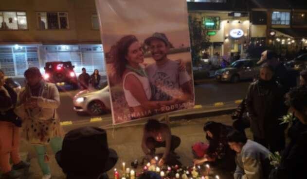 Homenaje a pareja asesinada en Magdalena