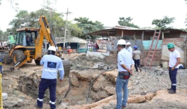 Aguas de Cartagena trabajará toda la noche y madrugada para restablecer el servicio en la mañana del domingo.