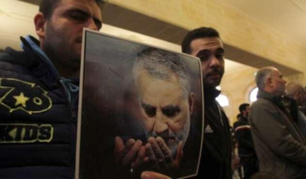 Qasem Soleimani en un retrato