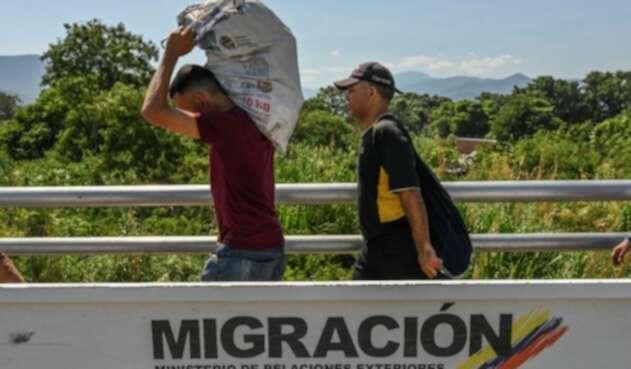Frontera entre Colombia y Venezuela, en Cúcuta.