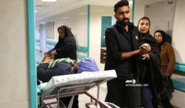 Estampida durante el funeral de Soleimani