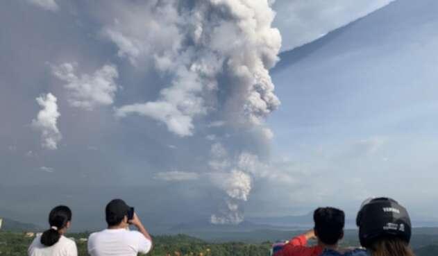 Erupción volcán Filipinas