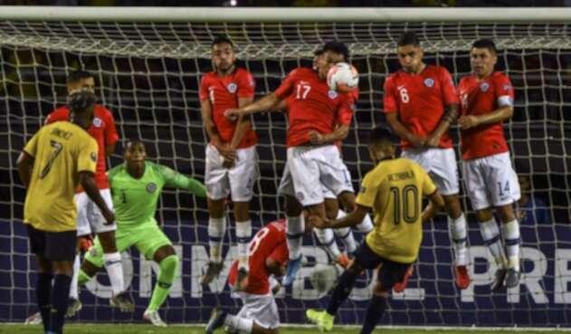 Chile vs Ecuador Preolímpico Sub 23