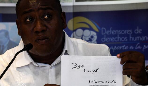 Leyner Palacios, líder social y sobreviviente de Bojayá.