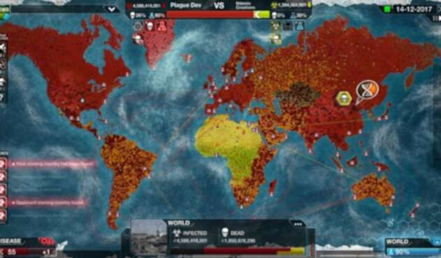 'Plague inc' simula la propagación de un virus