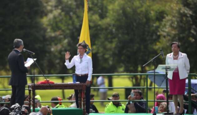 Toma de juramento de Claudia López en su posesión como alcaldesa de Bogotá