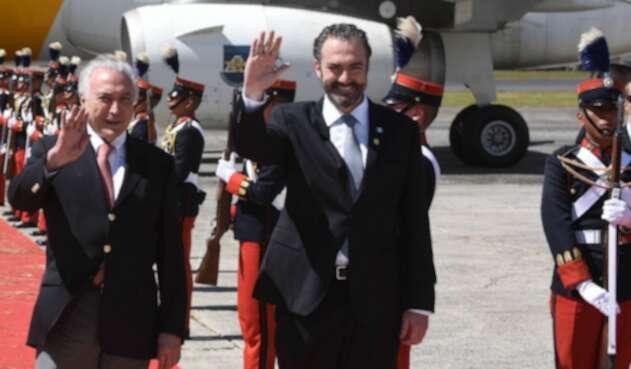 Acisclo Valladares junto a expresidente Michel Temer