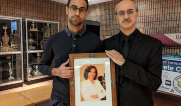 Amirali Alavi, estudiante irano-canadiense que perdió a su madre en el avión derribado por Irán.