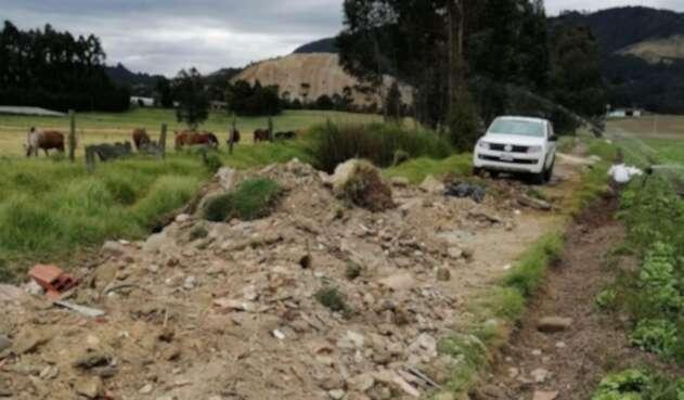 Así fue el operativo de la CAR en el predio que regaba hortalizas con aguas del Río Bogotá.