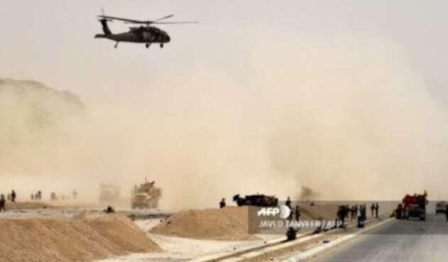 Avión accidentado en Afganistán