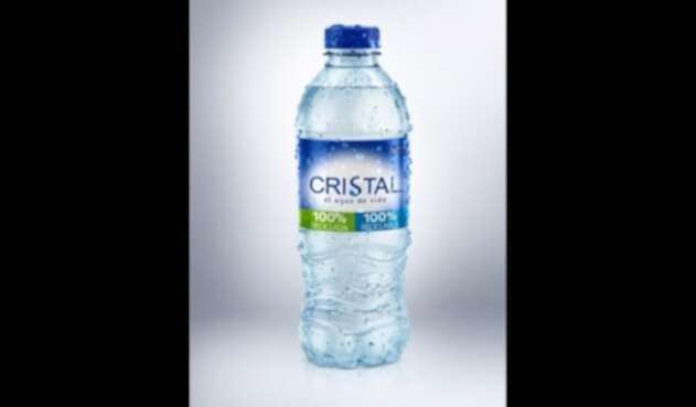 Nueva botella de agua Cristal, 100% reciclada, 100% reciclable.