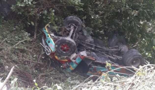 Bus accidentado en Santander