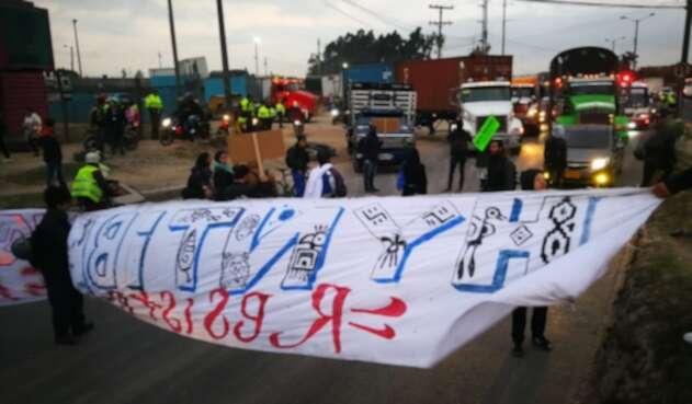 Protestas calle 13 en Bogotá