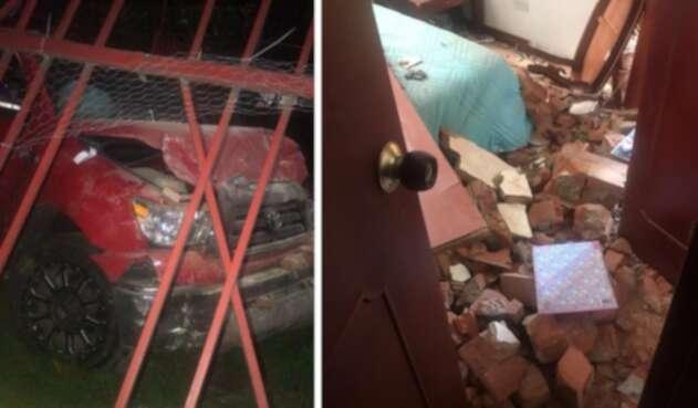 Accidente contra una vivienda que involucra a funcionario de a embajada de EE.UU.