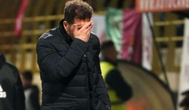 Diego Simeone, DT del Atlético de Madrid, 23 de enero de 2020