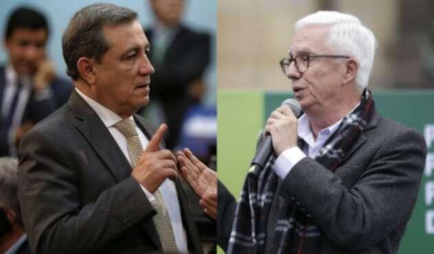 Los senadores Ernesto Macías y Jorge Robledo.
