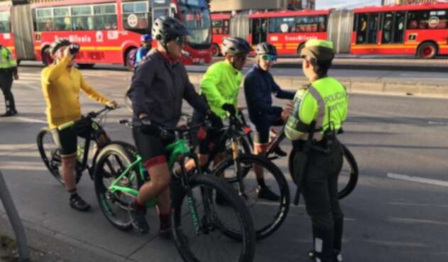 Operativos de control a ciclistas en Bogotá