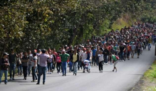 Caravana de hondureños hacia Guatemala