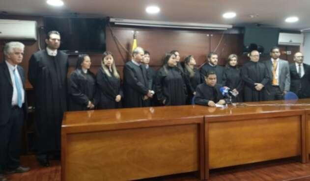 Jueces de Bogotá, se declararon inconformes por el no pago de la prima especial desde 1992