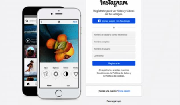 Versión web de Instagram