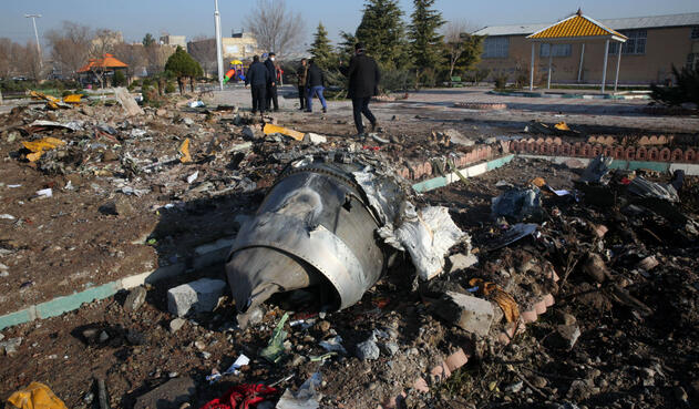 Accidente de avión en Irán