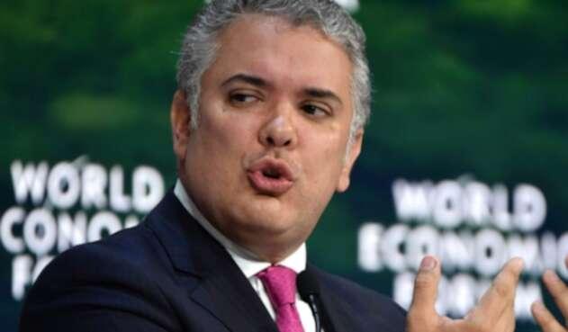 Iván Duque en el Foro Económico Mundial