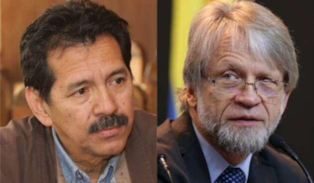 Jorge Guevara y Antanas Mockus